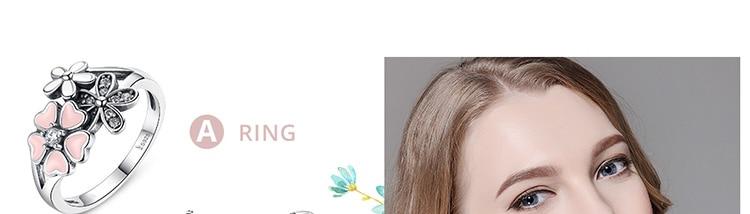 HTB1m1m.jcnI8KJjSspeq6AwIpXa7 BAMOER Fashion 925 Sterling Silver Pink Flower Poetic Daisy Cherry Blossom Finger Ring for Women #6 7 8 9 Size Jewelry SCR004