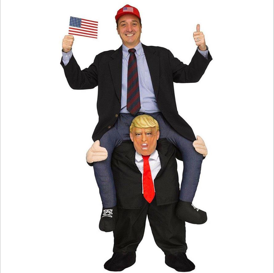 Funny Donald Trump Rider Costume 2017 Newest Inflatable Costumes For Adults Women Men Halloween Carnaval Party Cosplay Disfraz newest adults