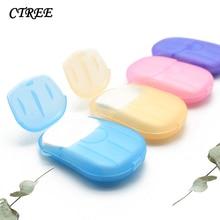 CTREE 2 Box Soap Paper Disposable Hand Sanitizer Soap Child Adult Travel Cleaning Sterilization Soap Paper Bathroom Gadget C806