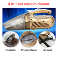 New multi-function Portable Car Vacuum Cleaner 12V 4 IN 1 120W High-Power Wet and Dry Aspirador pressure pneumatic lighting