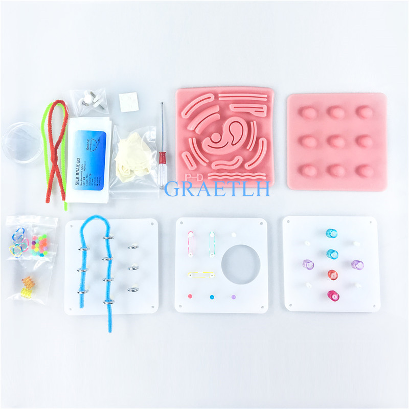 Laparoscopic Simulation Stitching  3D Silicone Module Surgical Training Skin Suture Pad Soft Lifelike For Teaching Demonstration