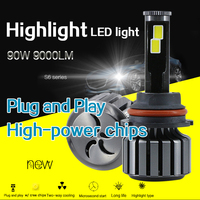 1X LED H4 Bulb W CREE Chips Car Motor Bike Motorcycle Headlight Conversion Kit DC 8V