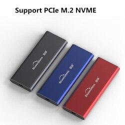 Blueendless PCIE M.2 Накопитель SSD с протоколом NVME корпус M Тип ключа C USB3.1 2240/2280 SSD чехол Полный Алюминий 10 Гбит/с внешняя коробка для твердого диска