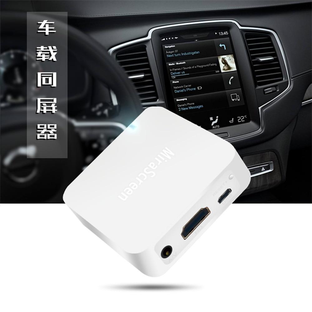 Nuevo X7 Car Wireless WIFI espejo enlace caja HDMI Dongle para iOS teléfono Android Audio Video Miracast pantalla espejo a coche