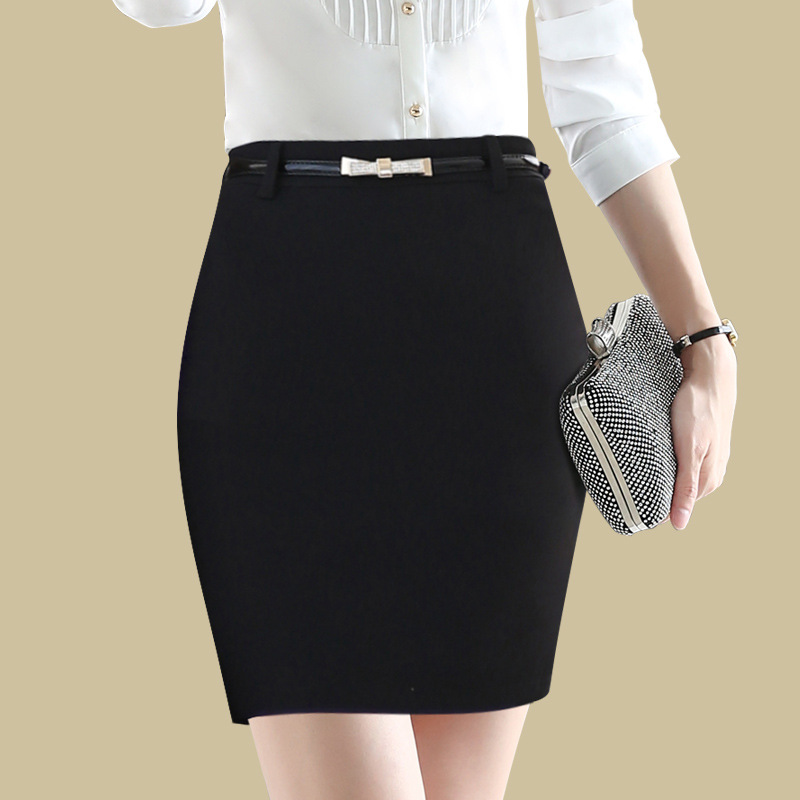 Whoholl Brand 2018 Summer Women Office Skirts Black White Classical Women Skirts A-Line Knee-Length Skirts For Lady Sexy