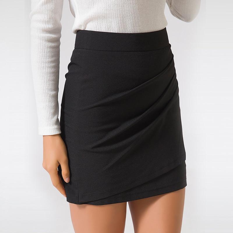 XS-5XL Plus Size Black Pencil Skirt Summer 2018 Bodycon High Waist Skirts Work Office Slim Women's Tight Sexy Mini Skirt Zevrez 5