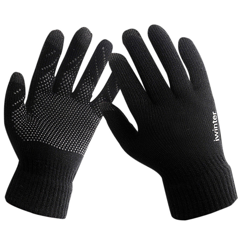 2017 New Knitted Touchscreen Gloves Winter Warm Fleece Lined Thermal Glove Men Women Anti-Slip Outdooor Sports Cycling Gloves