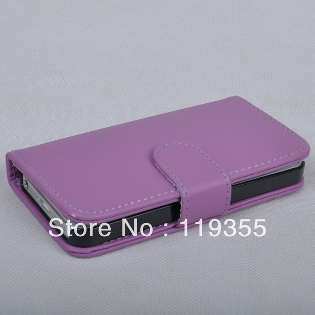 For for iphone mobile phone case 5holsteins protective case for apple the left and right open Wallet Card