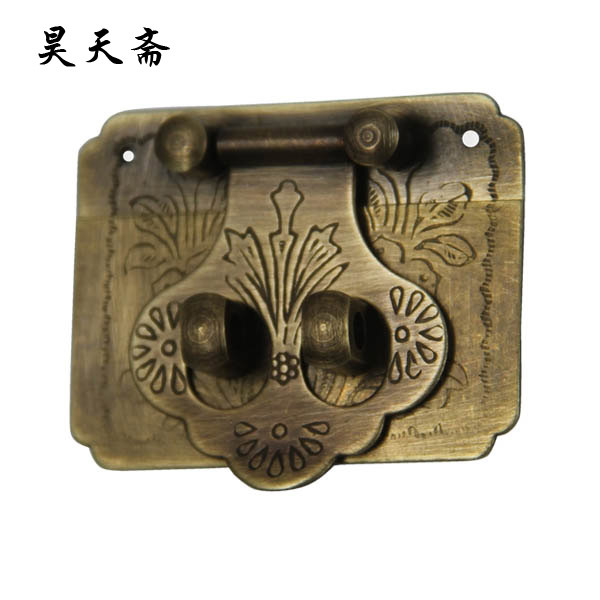 [Haotian vegetarian] Chinese antique jewelry box antique fittings copper box buckle clasp HTN-080 [haotian vegetarian chinese antique jewelry box] bronze fittings copper box buckle clasp tricolor htn 086