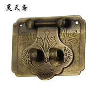 [Haotian vegetarian] Chinese antique jewelry box antique fittings copper box buckle clasp HTN-080