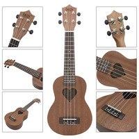 IRIN 21 Inch 4 Strings Four Strings 15 Fret Ukulele Soprano Ukulele Mini Acoustic Guitar Heart