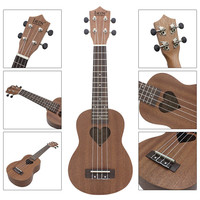 IRIN 21 Inch 4 Strings Four Strings 15 Fret Ukulele Soprano Ukulele Mini Acoustic Guitar Heart