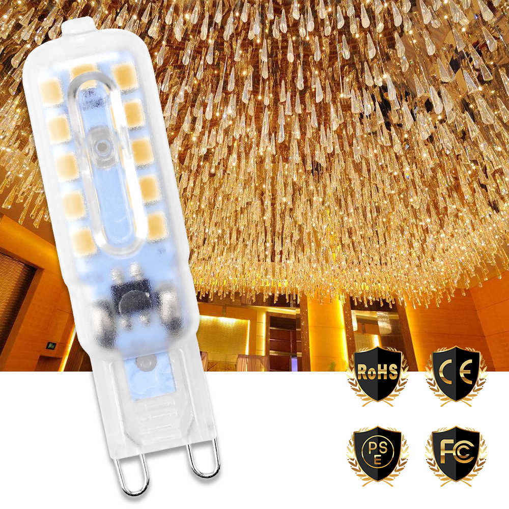 G9 Led Corn Lamp AC 220V 240V Led Bulb SMD 2835 Bombillas Replace Halogen Energy Saving Light 14 22LEDs Ampul 3W 5W Chandelier