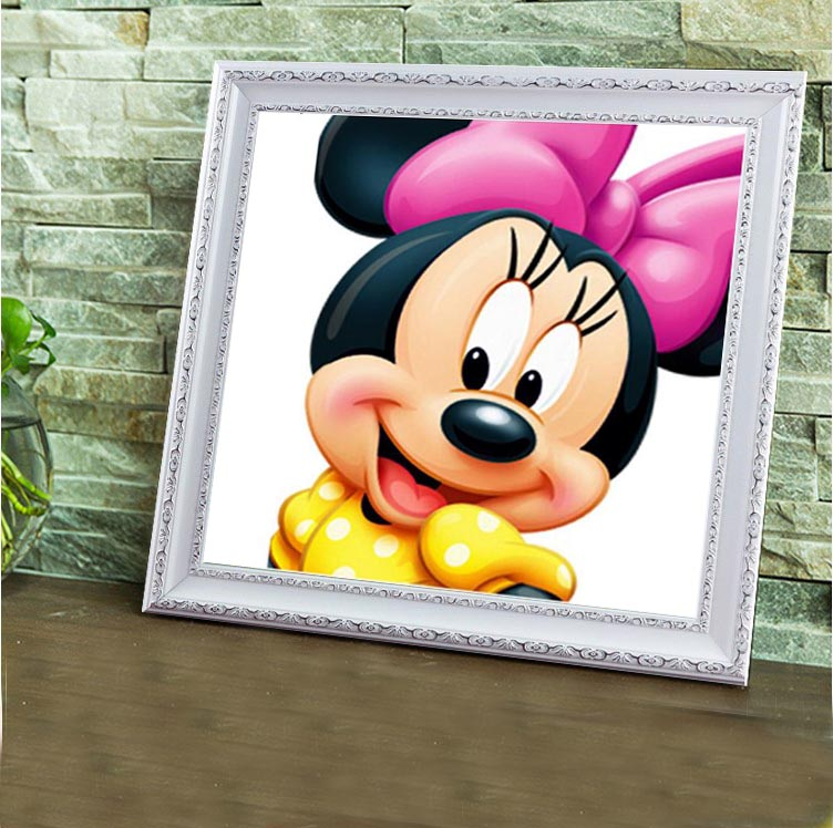 5d diy diamant schilderij kit vierkante diamanten steentjes kruissteek kit diamant borduurwerk mozaïek cartoon mickey handwerken