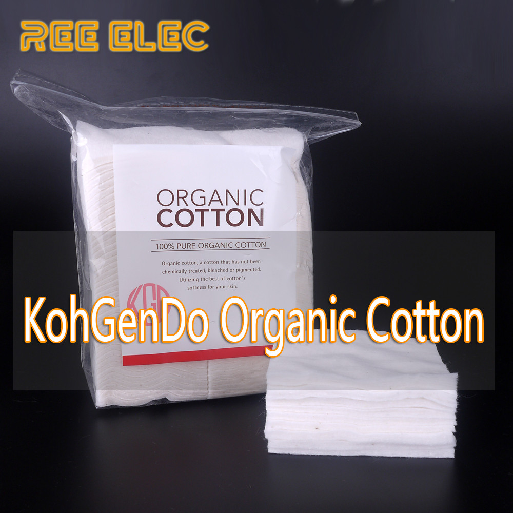 Ree Elec Japanese Muji Organic Cotton No Bleach Healthy Electronic For Vape 5 Pads Pen Rda Rdta Atomizer Diy Coil Wick Accessories Stable Taste