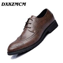 hot deal buy dxkzmcm men shoes leather men dress shoes luxury men's business casual classic gentleman shoes
