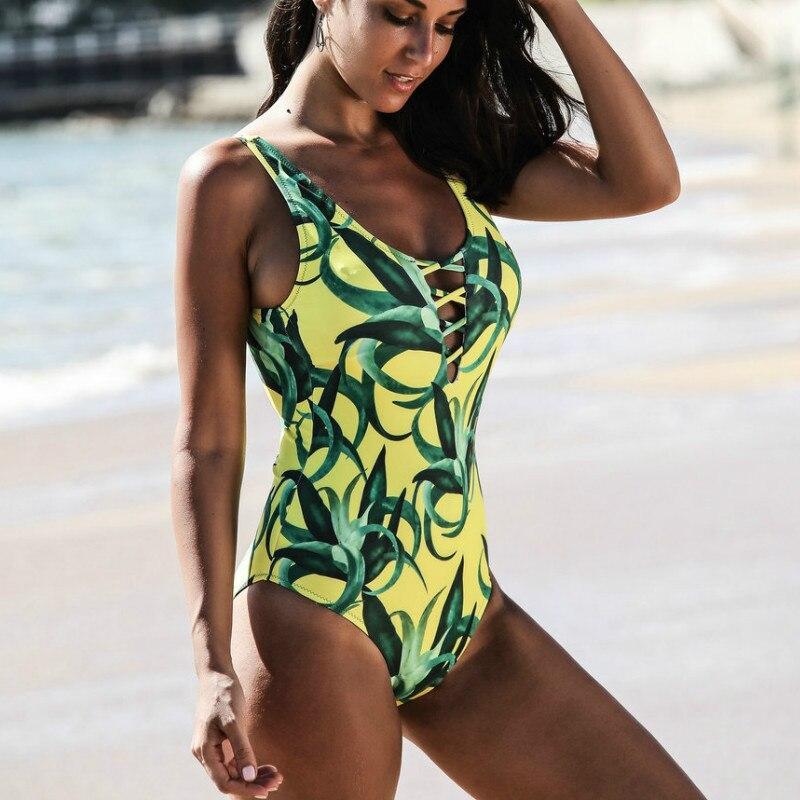 e67b982a0520 One Piece Trajes de Banho Maiô Praia das Mulheres Pode One-Piece Ternos  Swimwear Sexo Feminino Retro Vintage Mulheres de Banho de Natação terno D867