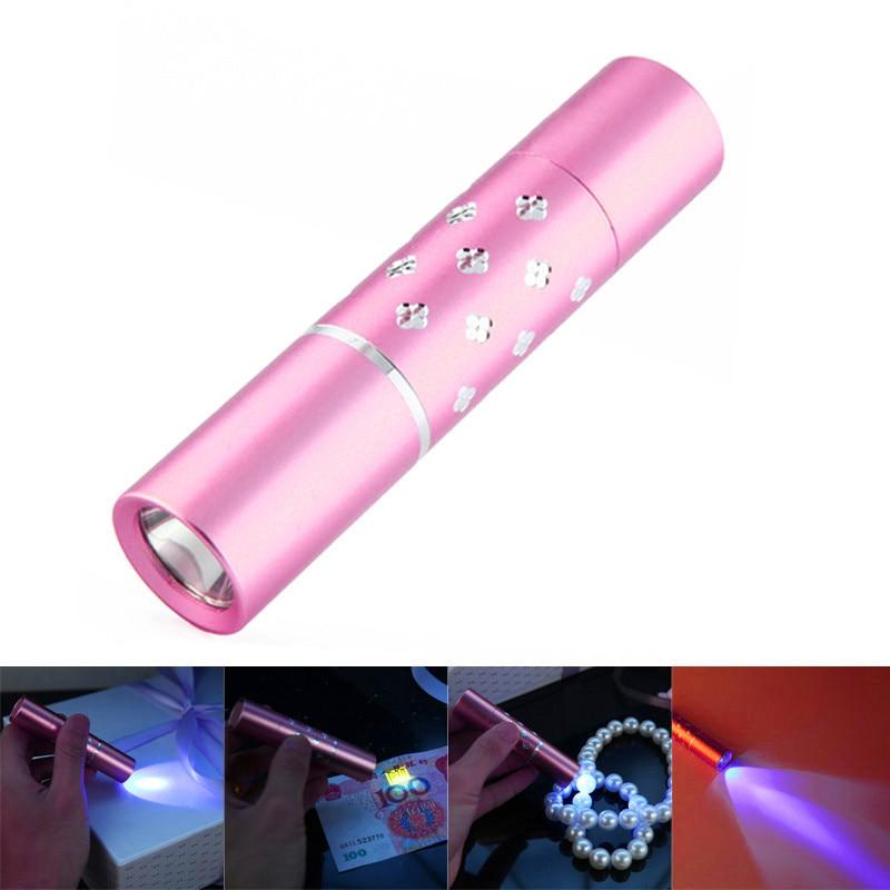Для велосипедов аксессуары 365nm УФ-фиолетовый свет мини фонарик jade косметический флуоресценции обнаружения Велоспорт Аксессуары 17627 P40