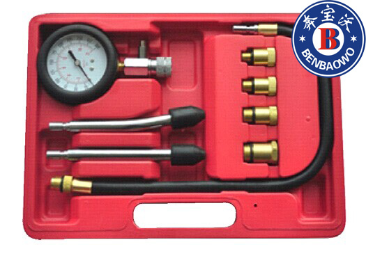 8 pc gasolina motor de compressão Tester Set inc M10-18 adaptadores