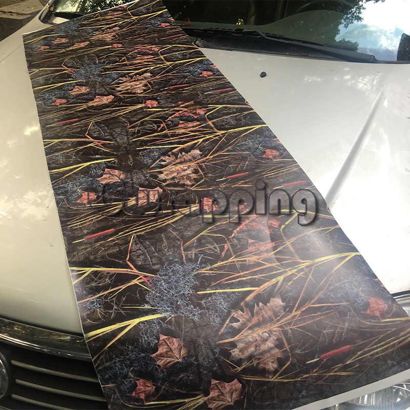 Болотный камуфляж виниловая Фольга украшения для мотоциклов настоящая трава графика Печатный грузовик Охотник автомобиль потолок, капот камуфляж пленка обертывание