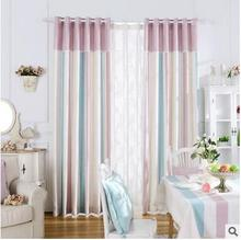 New Arrival 2 Color  Blue and Pink striped Modern/ Mediterranean Curtains for Livingroom/ Bedroom with Pattern Custom Curtains