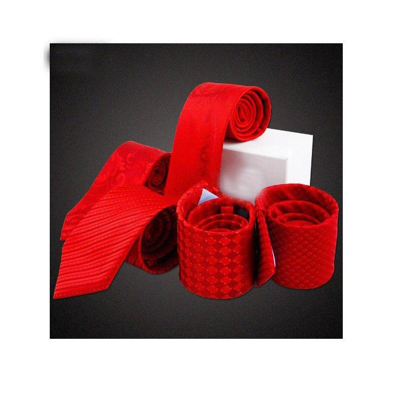 Plaids Red Tie Moda Wedding Dresses Gravata Woven Microfiber Jacquard Mens Ties 2017 New Stripe Floral Neckties Plaids Red Tie