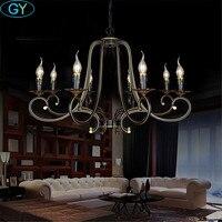 8 светло кованые подвесные светильники винтаж промышленных свечи подвесной светильник гостиная кухня крепление для люстр освещения