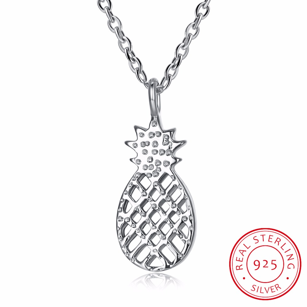 925 sterling silver Tiny Pineapple Pendant Necklaces Fruit Coliers For Women Gifts Accessarie Collar Colar de Plata Fine Jewelry