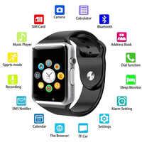 A1 inteligentny zegarek zegarek bluetooth Sport krokomierz z kamerą Sim Mic zadzwoń inteligentny zegarek dla androida Xiaomi Huawei Pk Dz09 M17