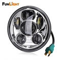 Free shipping Chrome 1psc 5.75 inch 45W Daymaker Projector LED Headlight for Harley Davidson Motorcycles headlamp