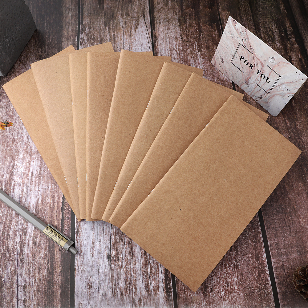 Creative Kraft Paper Traveler Notebook Inside Page Diary Notebook Blank Line Book