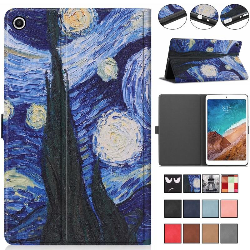 Luxury Painted Flip Book Cover PU Case for Xiaomi Mipad4 Plus Mi Pad 4 Plus Mipad