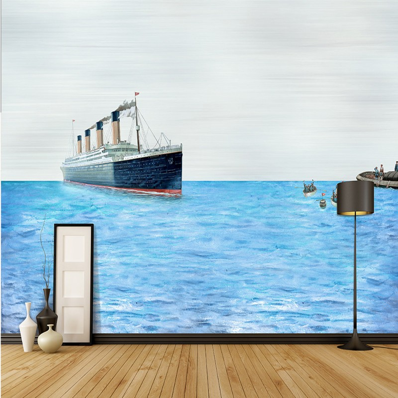 Online get cheap nautical wallpaper murals for Cheap mural wallpaper