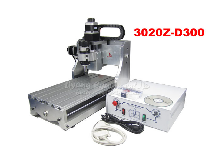 mini desktop cnc milling machine 3020Z-D300 with ball screw and 300W spindle