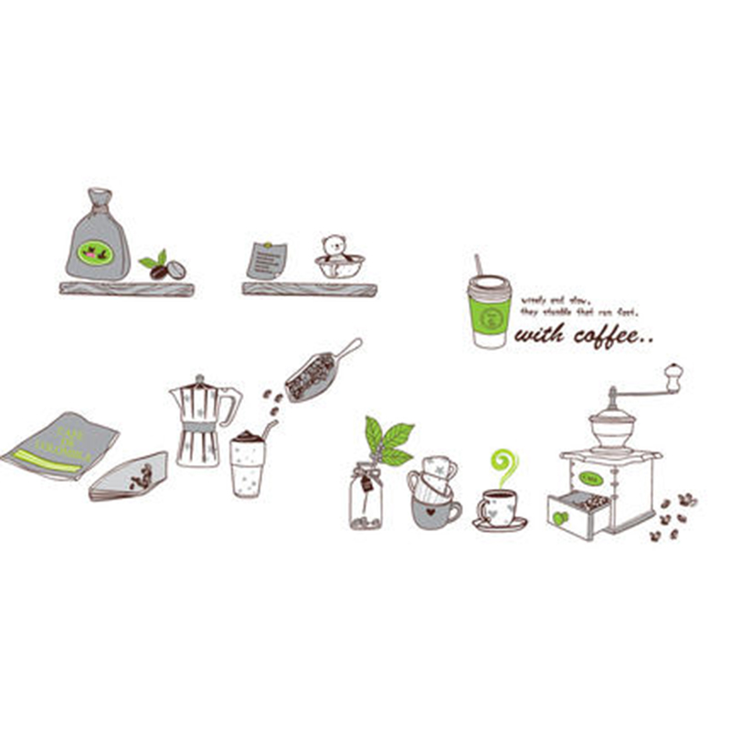 Restaurant Kitchen Supplies wall sticker picture - more detailed picture about cartoon kitchen