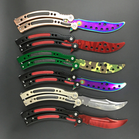 4 Colors Cs Go Butterfly In Knife Training Knife Stainless Steel Metal Knife The Brave Gift