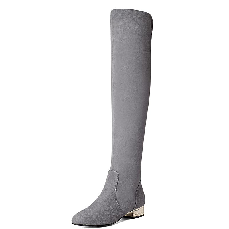 ФОТО Elegant temperament female boots winter over the knee boots shoes high boots are thin leg high boots women shoes T2577