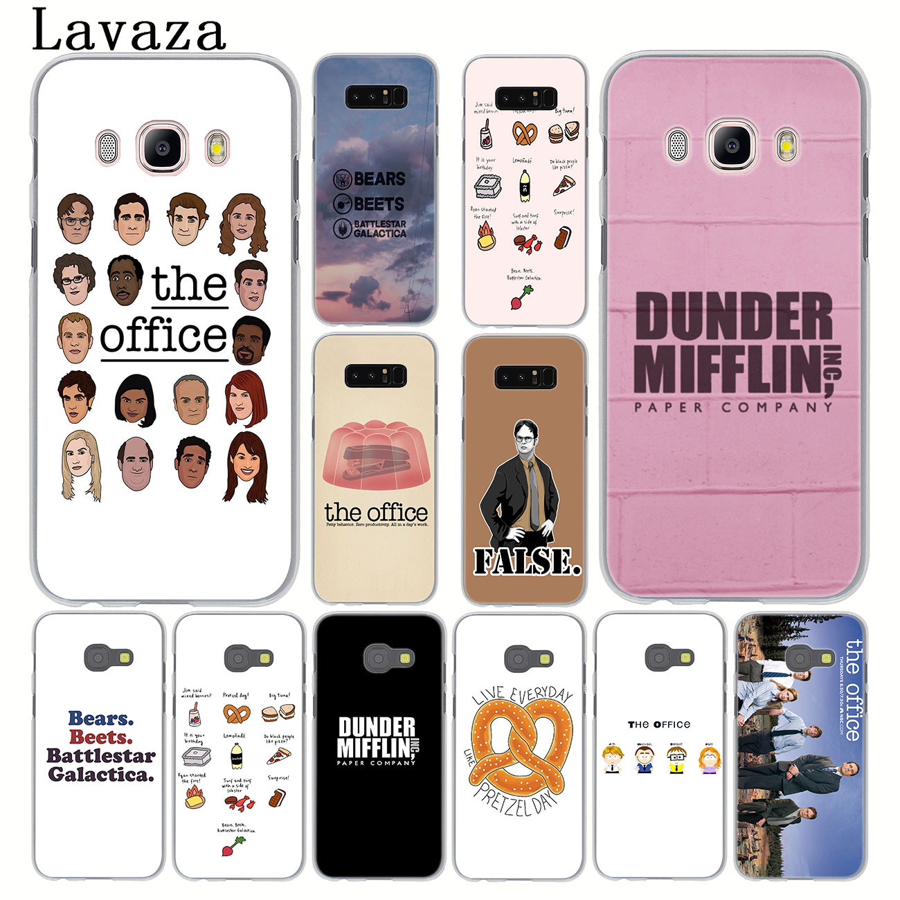Lavaza TV the office cast meme Hard Phone Case for Samsung Galaxy Note 10 9 8 A9 A8 A7 A6 Plus 2018 A3 A5 2017 2016 2015 Cover image