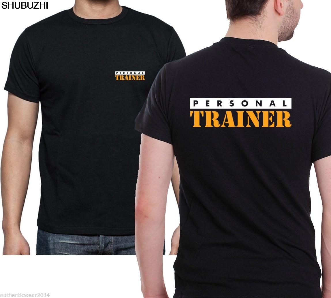 Gedruckt Front & Back Schwarz Gym Training T Kühle Casual Stolz T Shirt Männer Neue Mode T-shirt Sbz3435 T-shirts PersÖnliche Trainer T Hemd