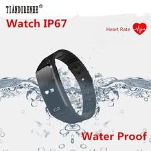 Tiandirenhe S03H Smart пульсометр фитнес-трекер Шагомер Водонепроницаемый SmartBand здоровья браслет для iOS и Android