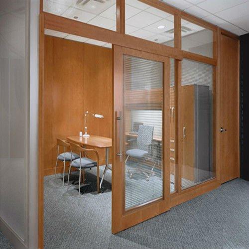 Merveilleux Wood Frame Office Sliding Door