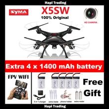 Original SYMA X5SW X5SW-1 WIFI RC 6-Axis Drone Quadcopter con FPV Cámara Sin Cabeza En Tiempo Real RC Helicóptero Quad copter Juguetes