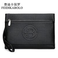 FEIDIKABOLO Luxury Male Genuine Leather Purse Men's Clutch Wallets Carteiras Billeteras Mujer Men Wallets Clutch Man Handy Bags