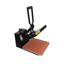 38*38cm Flatbed Manual t-shirt printing machine clamshell heat press transfer T-Shirt Sublimation Machine with high quality
