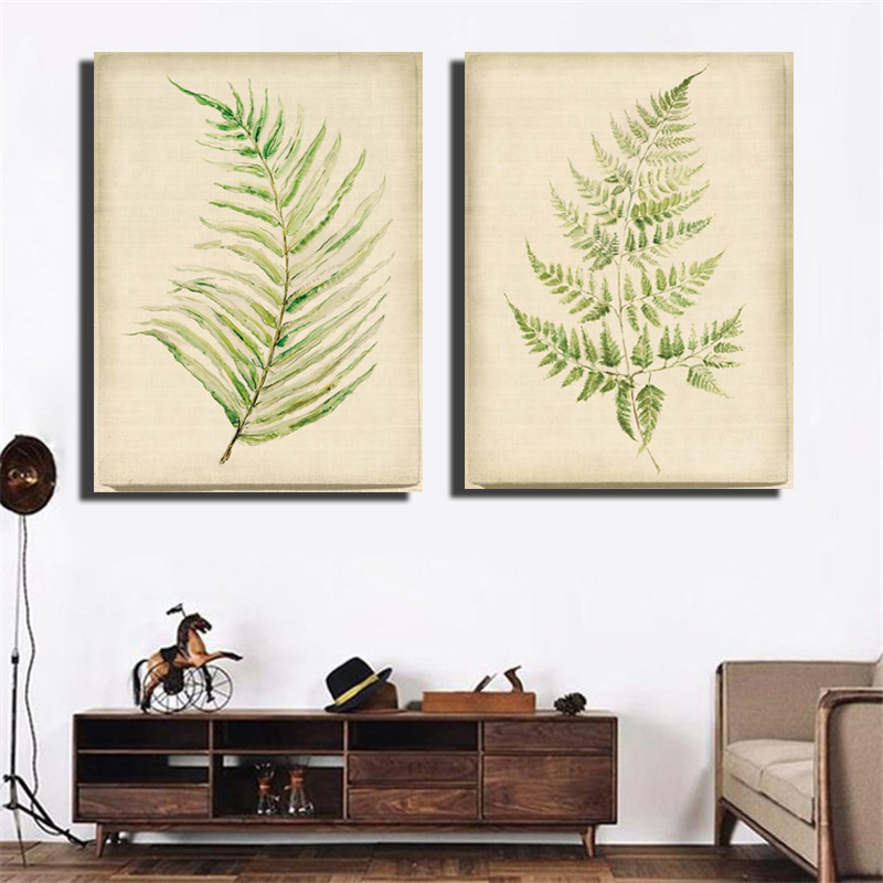 Home Goods Artwork: HD Print Green Leaf Wall Art Pictures Nature Landscape