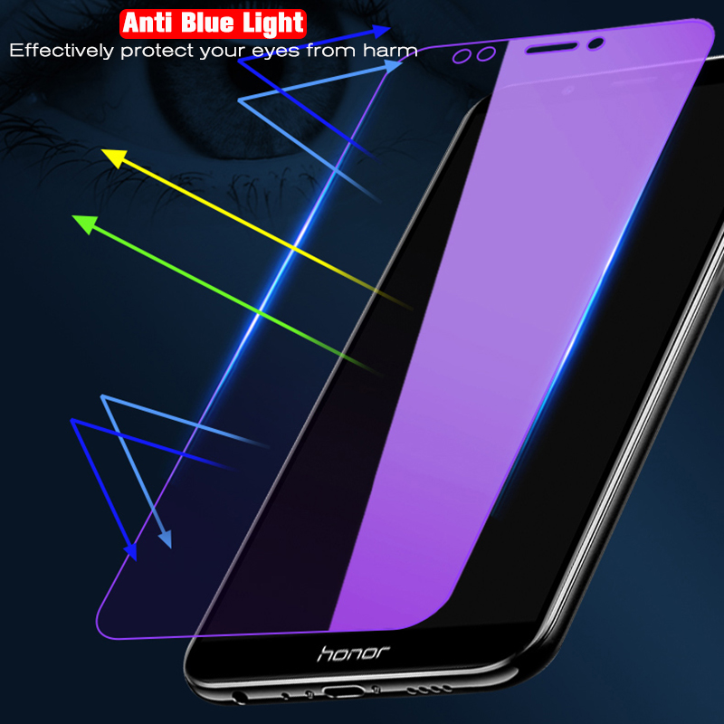 9H Tempered Glass For Huawei Honor View 20 10 V10 9 V9 8 Lite 7A 7C Pro 7X 9H Explosion-proof Anti Blue Light Screen Protector