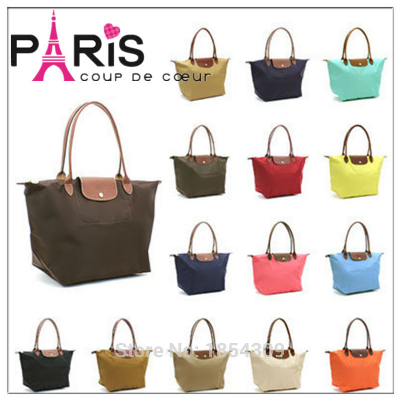 French Brand Large Pliage Nylon Tote Bag Ping Handbag Long Folding Travel Paris Champagne Dumpling Fashion Causal Working In Top Handle Bags From