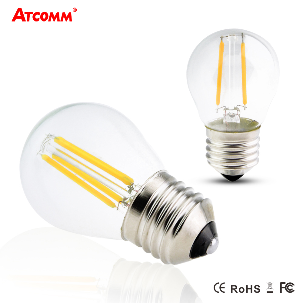 dimmable e27 led filament bulb g45 2w 4w 6w incandescent diode bombillas ampoule led e27 110v. Black Bedroom Furniture Sets. Home Design Ideas