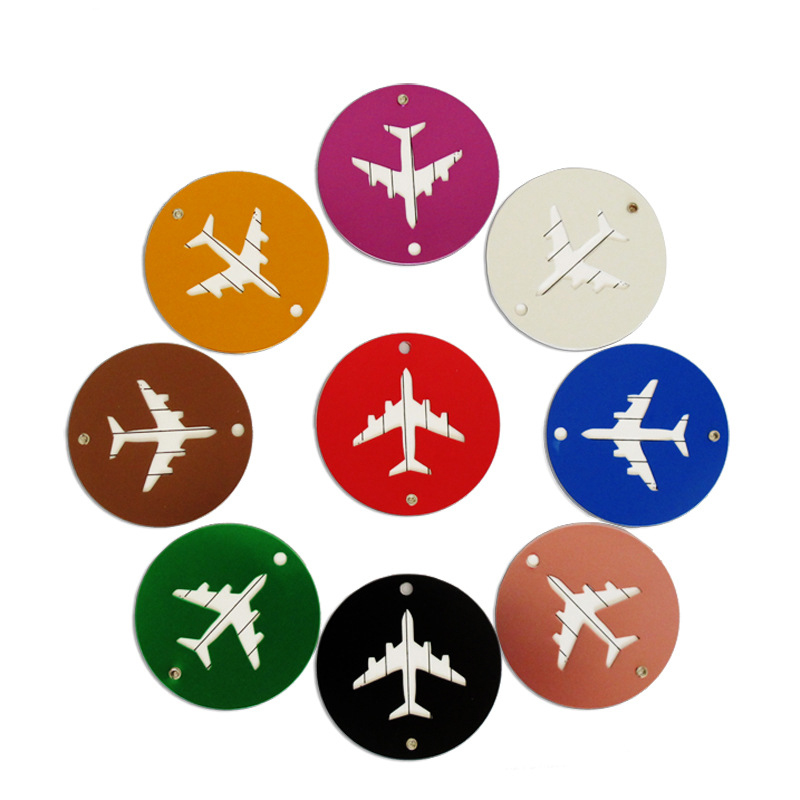 2pcs Travel Luggage Tag Boarding Aluminum Round Suitcase Portable Secure Travel Suitcase Label Best Love Hot Selling