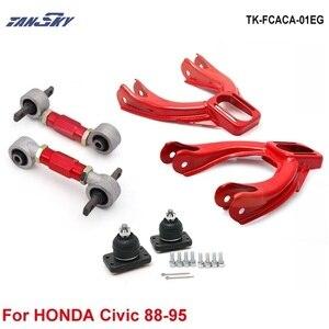 Przedni górny Camber Kit:+ tylne dolne wahacze (pasuje do 92-95 Honda Civic EG TK-FCACA-01EG